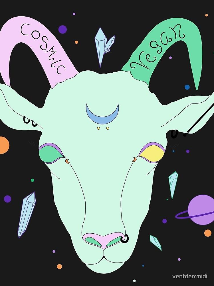 Kosmische Vegane Ziege. von ventderrmidi