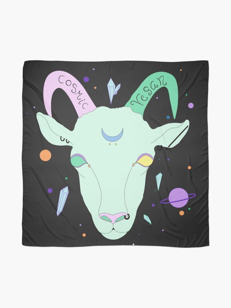 Alternative Ansicht von Kosmische Vegane Ziege. Tuch