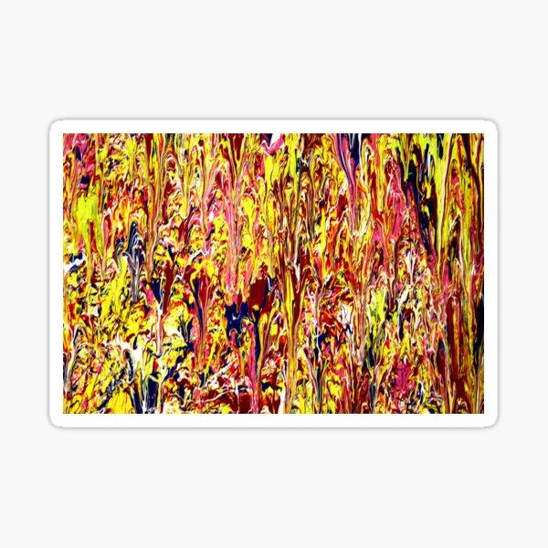 Abstract Jackson Pollock Painting  Sticker