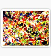 Colorful Abstract Painting Original Art on Canvas Titled: Painting Dance Party Sticker