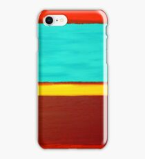Rothko Style Abstract Painting Original Art Titled: The Divide  iPhone Case/Skin