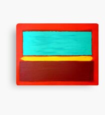 Rothko Style Abstract Painting Original Art Titled: The Divide  Canvas Print