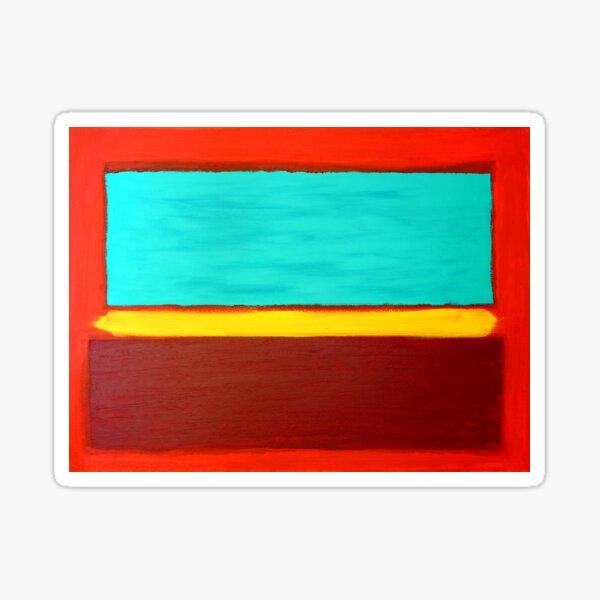 Rothko Style Abstract Painting Original Art Sticker