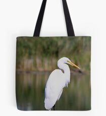 Up Close & Personal With An Egret Tote Bag