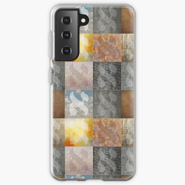 Collage of Hebrew Letter Aleph Typographic Art Samsung Galaxy Soft Case