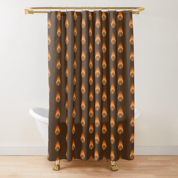 Echidna on Brown Background Shower Curtain
