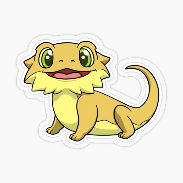 Little Dude the Bearded Dragon Transparent Sticker