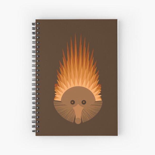 Echidna on Brown Background Spiral Notebook