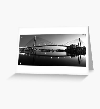 The Full Span ANZAC Bridge -Sydney Greeting Card