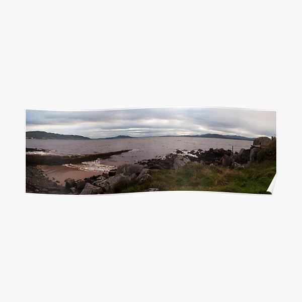 A Cloudy Evening on the Irish Coast Poster