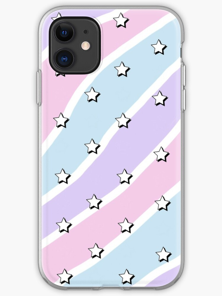Aesthetic Blue Purple Pink Waves With Stars Wallpaper Iphone Case Cover By Pastel Paletted Redbubble