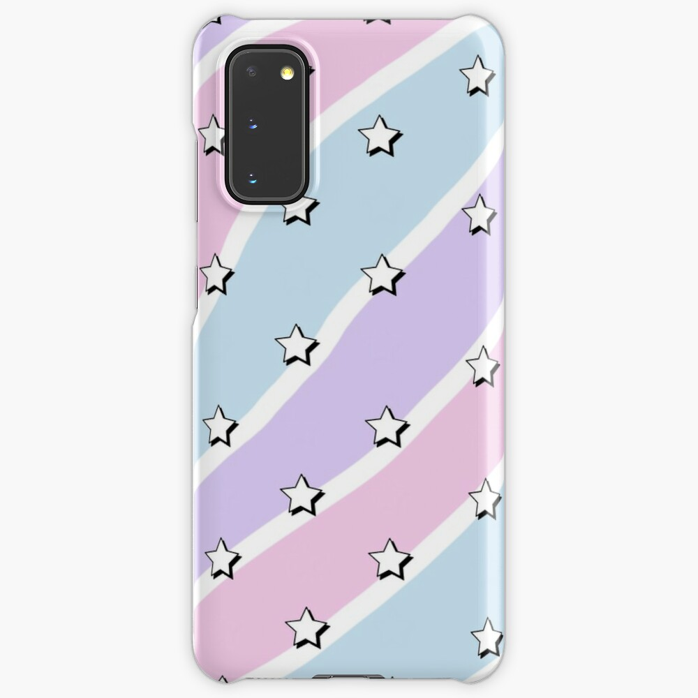 Aesthetic Blue Purple Pink Waves With Stars Wallpaper Case Skin For Samsung Galaxy By Pastel Paletted Redbubble
