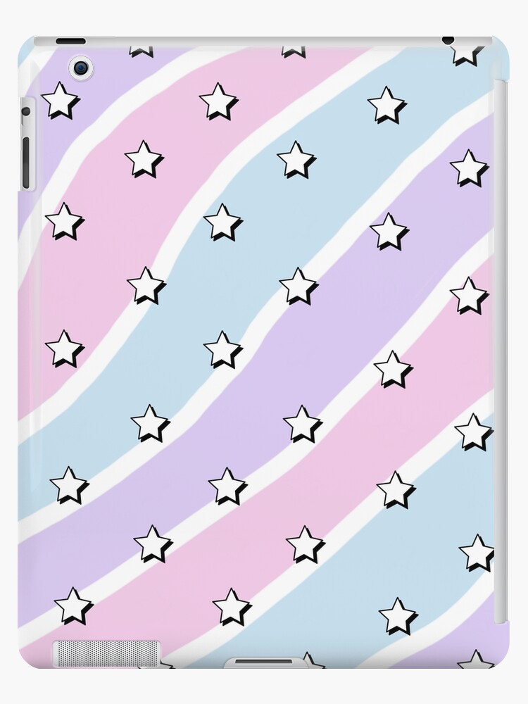 Aesthetic Blue Purple Pink Waves With Stars Wallpaper Ipad Case Skin By Pastel Paletted Redbubble