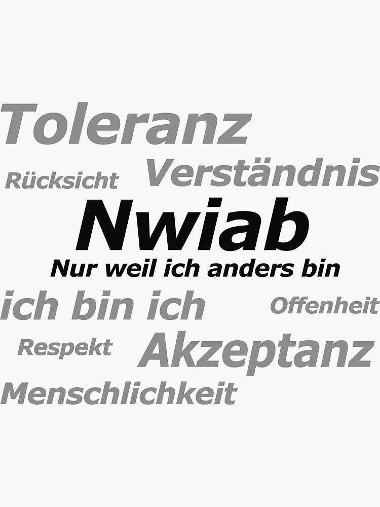 Aufruf für mehr Toleranz von nwiab