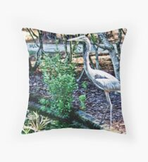 Tall and Slender, Great Blue Heron Throw Pillow