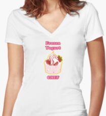 Frozen Yogurt Chef Women's Fitted V-Neck T-Shirt