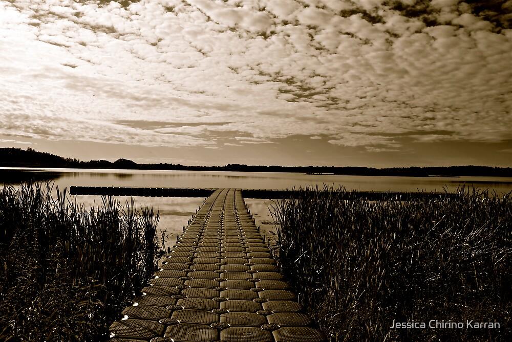 Hasse Lake B&W, Alberta Canada by Jessica Karran