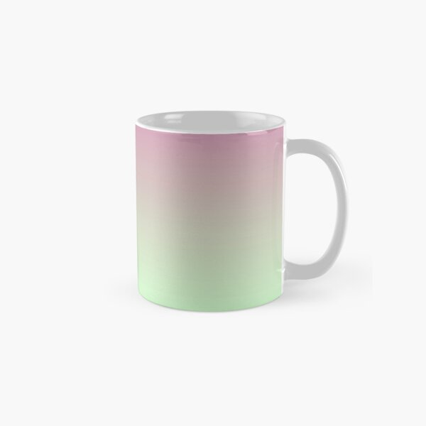 Light Pink Green Gradient. Blend of cool pastel lime green to warm coral pink. Classic Mug