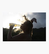 Crazy Beer Hair Photographic Print