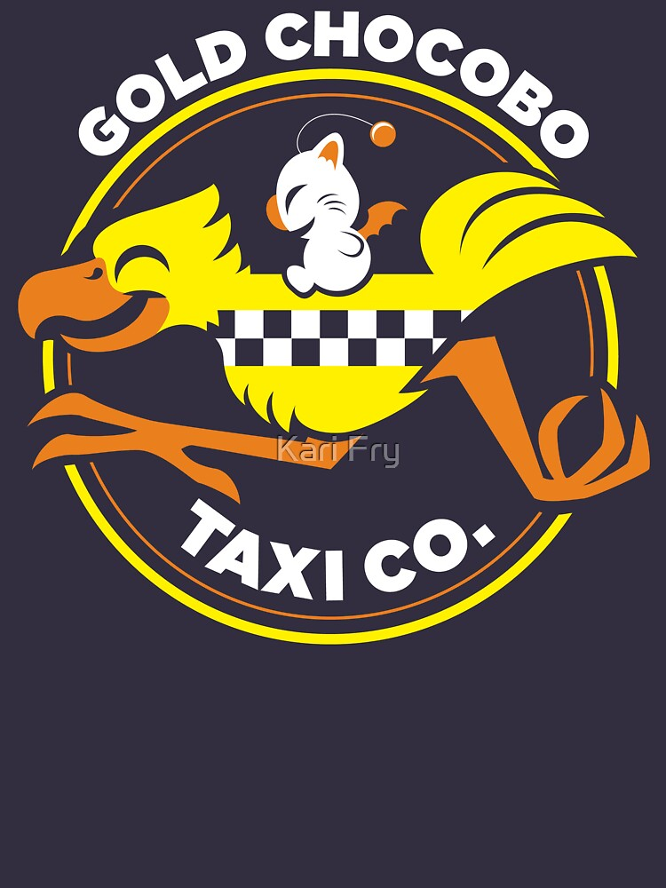 Gold Chocobo Taxi Co by misskari