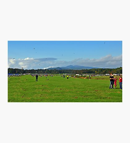 Kite Flying at the  Balloon Festival  Photographic Print
