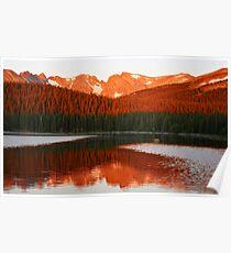 Alpen Glow, Brainard Lake, Colorado Poster