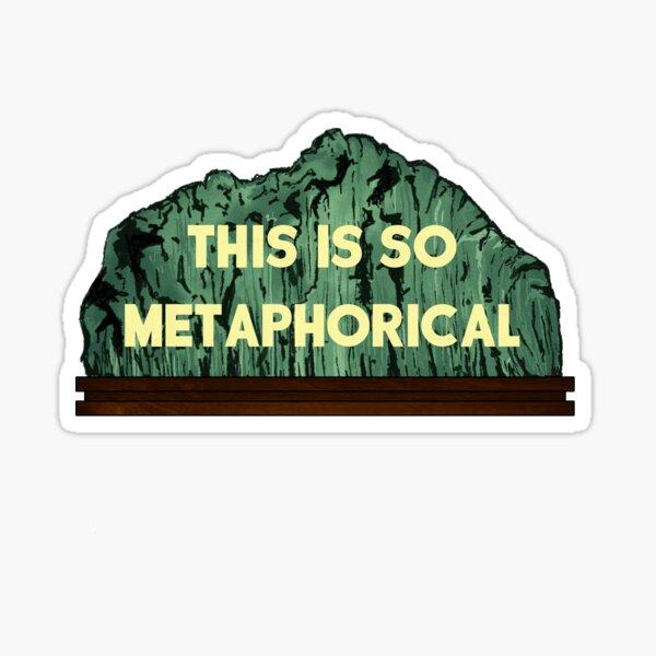 """This is so metaphorical"" - Parasite Movie Quote Sticker"