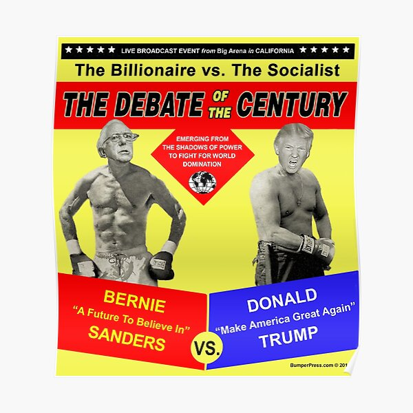 Trump vs Sanders Debate Poster