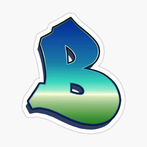 Letter B - Caribbean Sticker