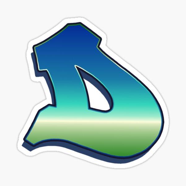 Letter D - Caribbean Sticker