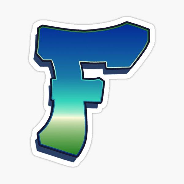 Letter F - Caribbean Sticker