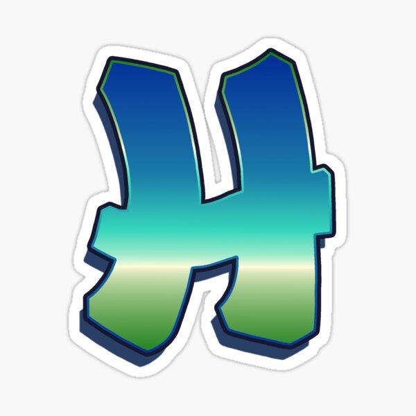 Letter H - Caribbean Sticker