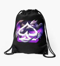 Asexual Pride Dragon Drawstring Bag