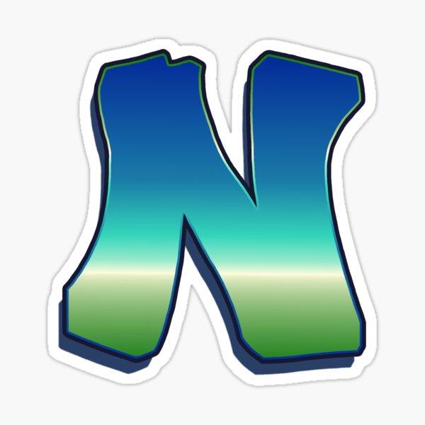 Letter N - Caribbean Sticker