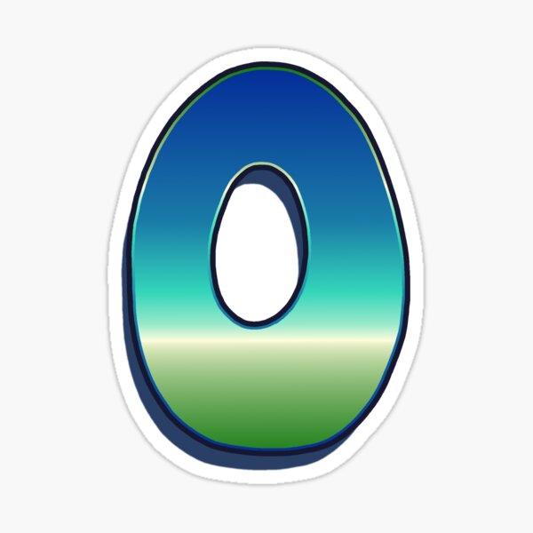 Letter O - Caribbean Sticker