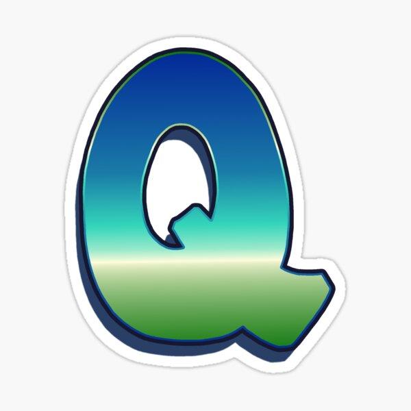 Letter Q - Caribbean Sticker
