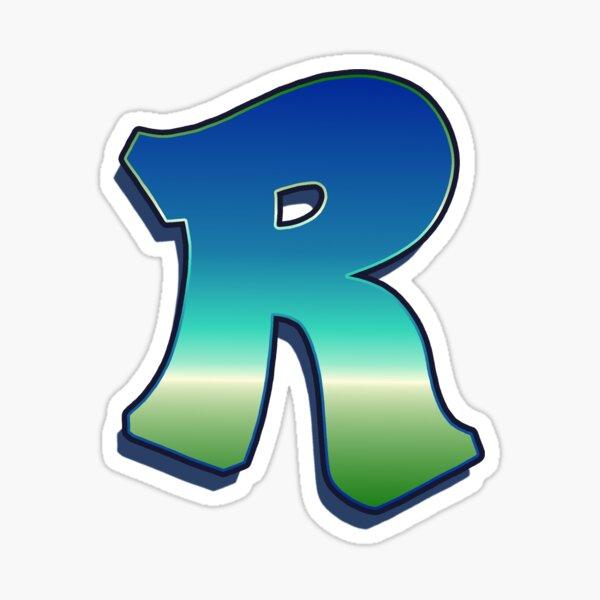 Letter R - Caribbean Sticker