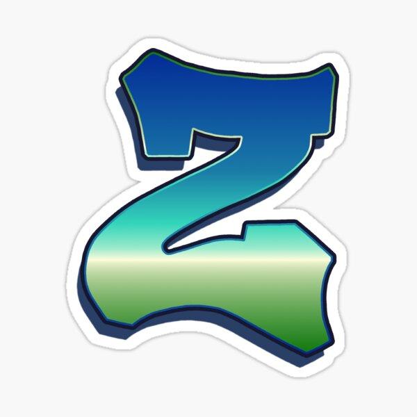 Letter Z - Caribbean Sticker