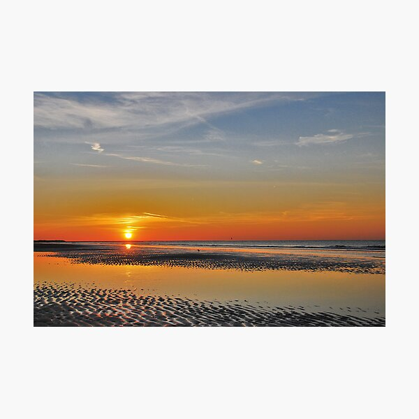 A summer sunset in October Photographic Print
