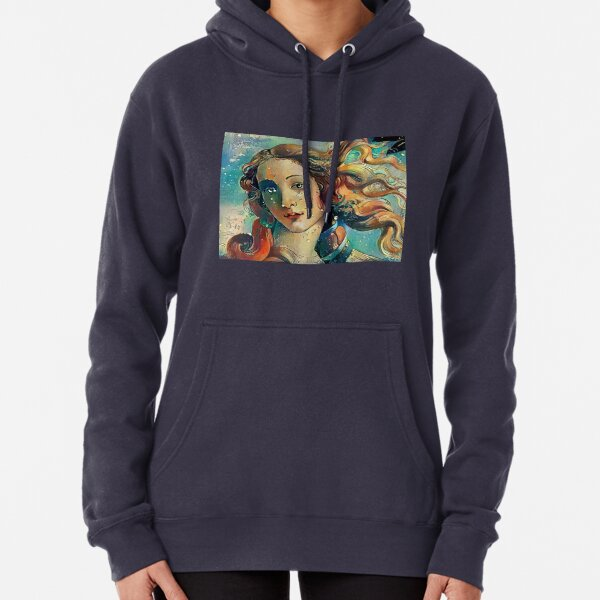 The Birth of Venus (Botticelli) Makeover Pullover Hoodie