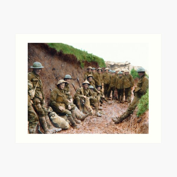 British soldiers at the Battle of the Somme Art Print