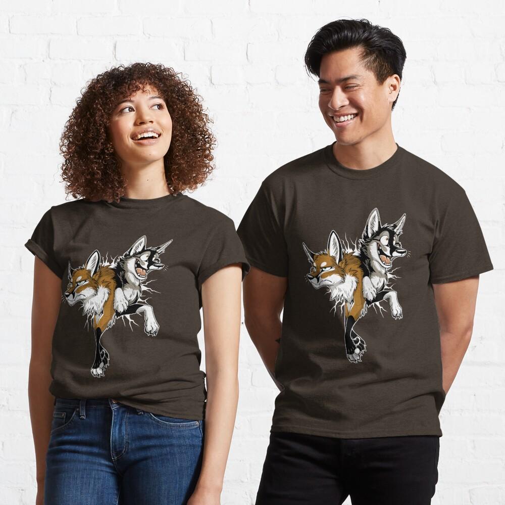 STUCK Foxes (dark background) Classic T-Shirt