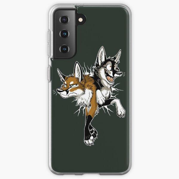 STUCK Foxes (dark background) Samsung Galaxy Soft Case