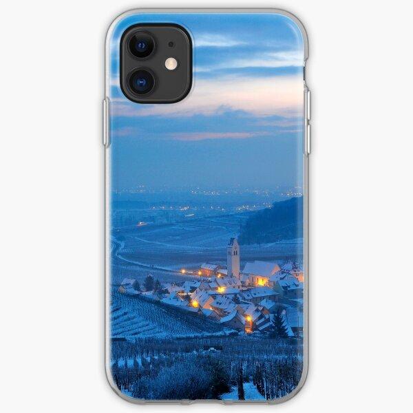Village de Katzenthal en hiver Coque souple iPhone