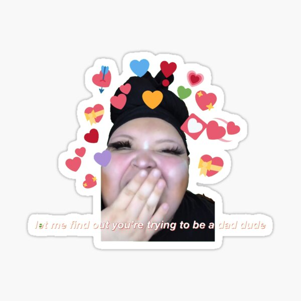 rosa let me find out you're trying to be a dad dude tiktok Sticker