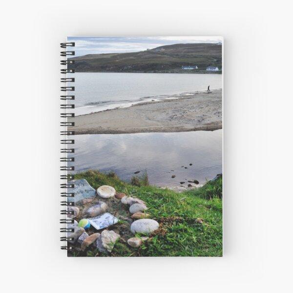 Elga's Grave - Kilnaughton Bay, Islay Spiral Notebook