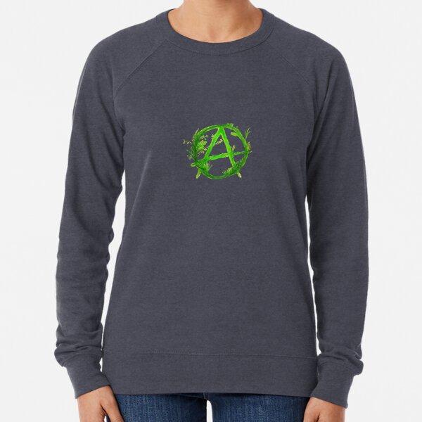 green anarchy painted Lightweight Sweatshirt