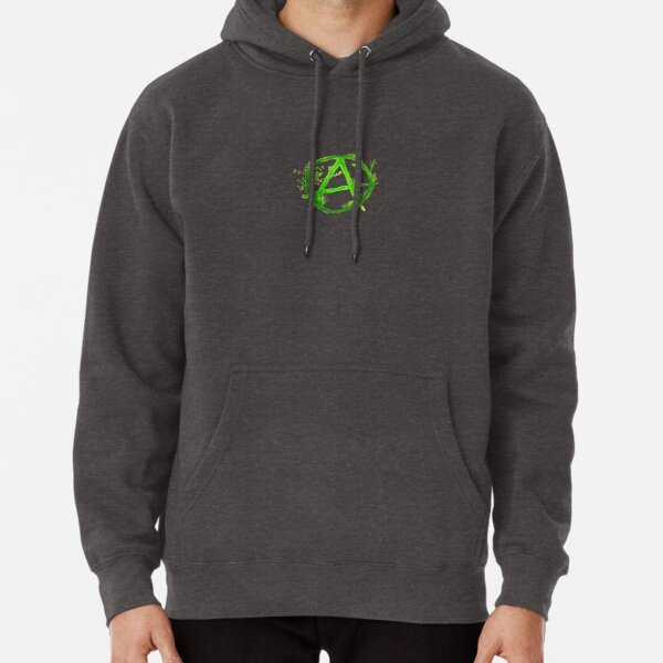 green anarchy painted Pullover Hoodie