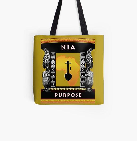 Nguzo Saba NIA All Over Print Tote Bag
