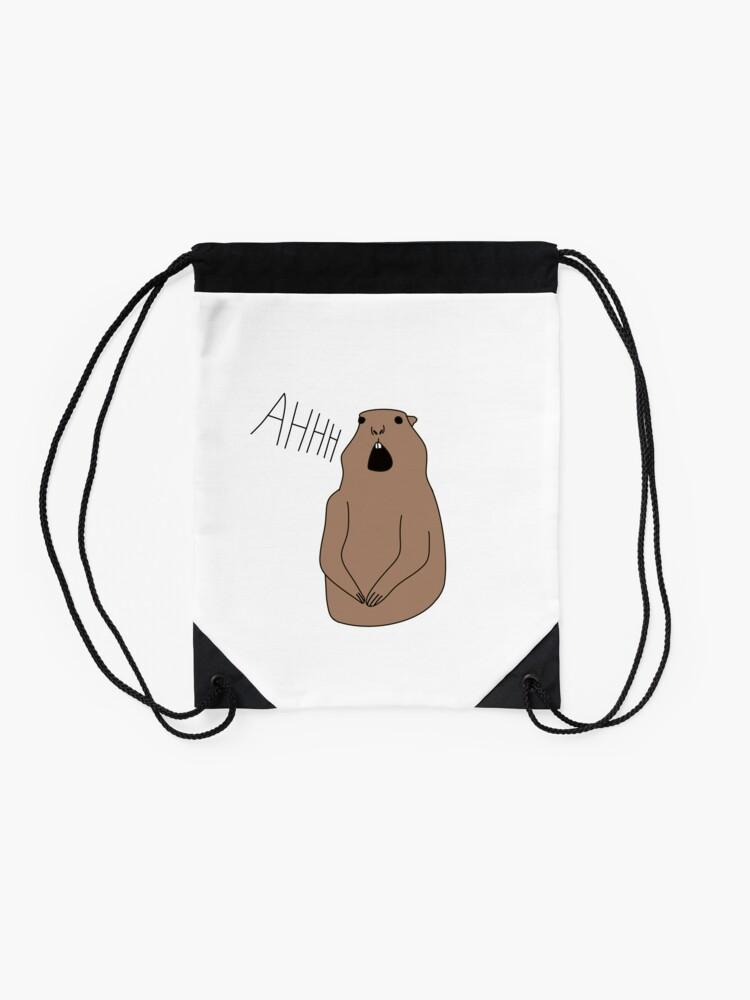 Drawstring Backpack Groundhog Shoulder Bags